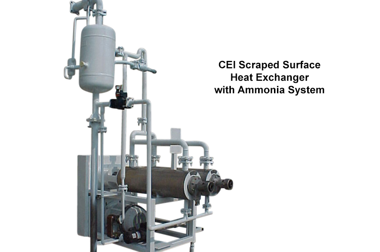 Carmel Engineering - CEI Scraped Surface Heat Exchanger with Ammonia System