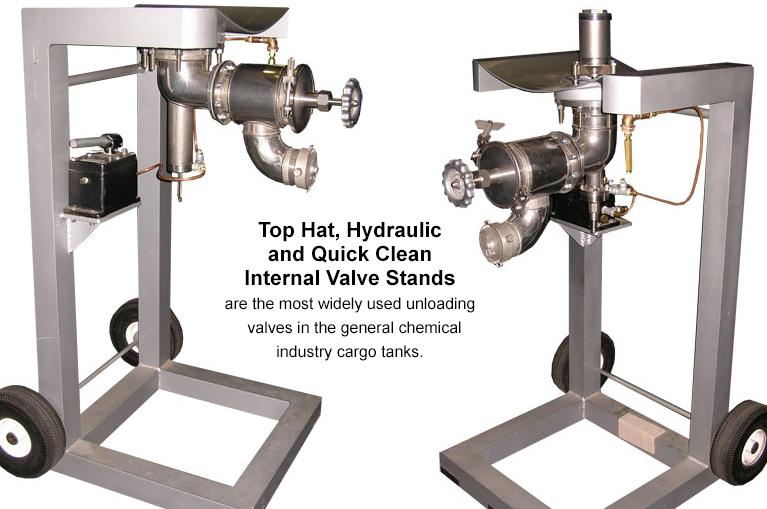 Carmel Engineering - Top Hat, Hydraulic and Quick Clean Internal Valve Stands